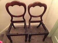 Victorian mohogany balloon back dining chairs