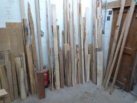 Hardwood timber offcuts