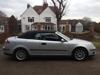 SAAB 9-3 CONVERTIBLE 1 OWNER SINCE 2009 175 BHP MOT DECEMBER FULL SERVICE HISTORY-WE CAN DELIVER