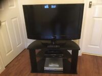32 in LG TV, Panasonic HDD Recorder, DVD and stand