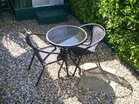 garden table &two chairs