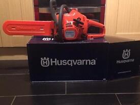 "Husqvarna 14"" chainsaw"