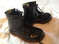 Dr Martens Infant Brooklee Boots - Black Patent