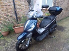 PIAGGIO BEVERLY ST350, 2013, BLUE, ONLY 12600MILES, 1 OWNER, VGC,MOT, ANY INSPECTION,DELIVERY POSS