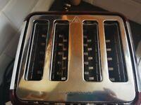 Morphy Richards (Faulty) Evoke Red 4 Slice Toaster