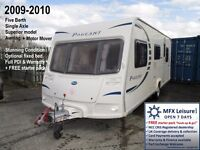 2009-2010 BAILEY PAGEANT PROVENCE 5 BERTH – SERIES 7 – AWNING – MOTOR MOVER - OPTIONAL FIXED BED