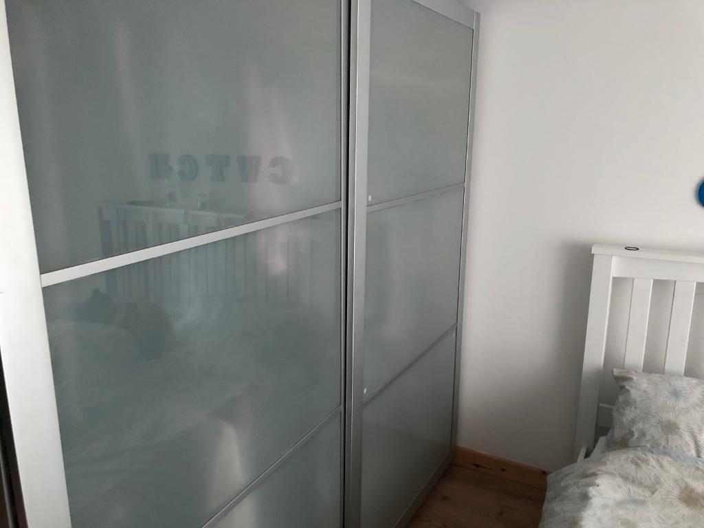 Ikea Sliding Door Wardrobes Frosted Glass Doors In Hengoed