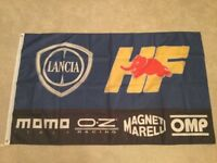 Lancia delta beta coupe fulvia stratos workshop flag banner