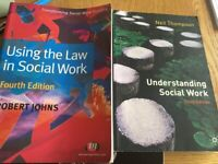 60 Social work degree text books New/Excellent condition