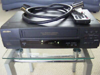 Bush vhs tape player / recorder HQ (asnew ) including scart lead