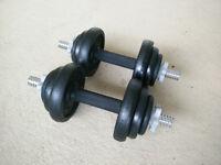 York 20kg Iron Dumbell Set