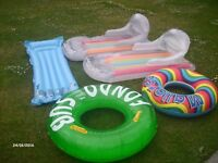 Various water inflatables