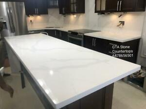 Quartz~Granite Counter top starts from $35/sqft, we carry all brands and colors