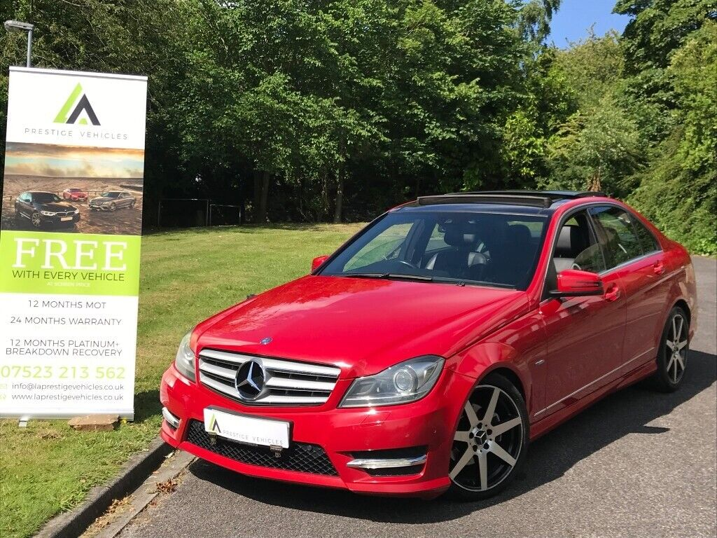 NEW SHAPE MERCEDES BENZ C250 AMG SPORT PAN ROOF SAT NAV LEATHER 205BHP CDI  AUTO 7G diesel c220 320d | in Bradford, West Yorkshire | Gumtree