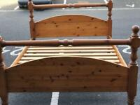 Pine Double Bed Frame (@07752751518)