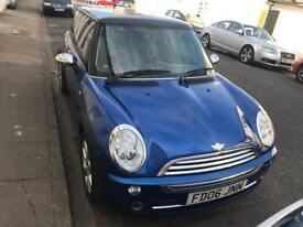 Mini Cooper 3dr hatchback blue 1.6 petrol