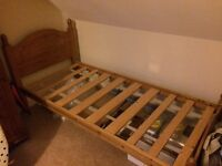 Solid Pine Wood Single Bed