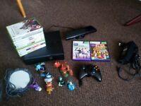 Microsoft Xbox 360 SLIM # Pad # Kinect # 13 games # Skylanders # cheap bundle