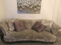 4 seater sofa, armchair and storage footstool