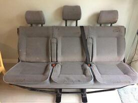 Vw transporter rear folding bench seat