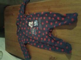 0-3 month Disney fleece babygrow