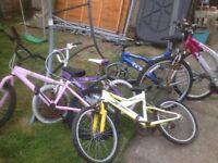 Job lot of bikes all need TLC