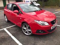 2008 SEAT IBIZA SPORT 1.4 PETROL 5DR MANUAL IN RED MOT 02/18