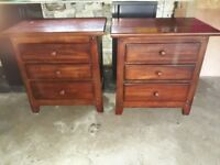 Solid Wooden Chest & Matching Bedside Tables