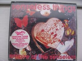 Senseless Things Double CD Album ‎– Empire Of The Senseless + Postcard C.V. - USED, FREE POSTAGE