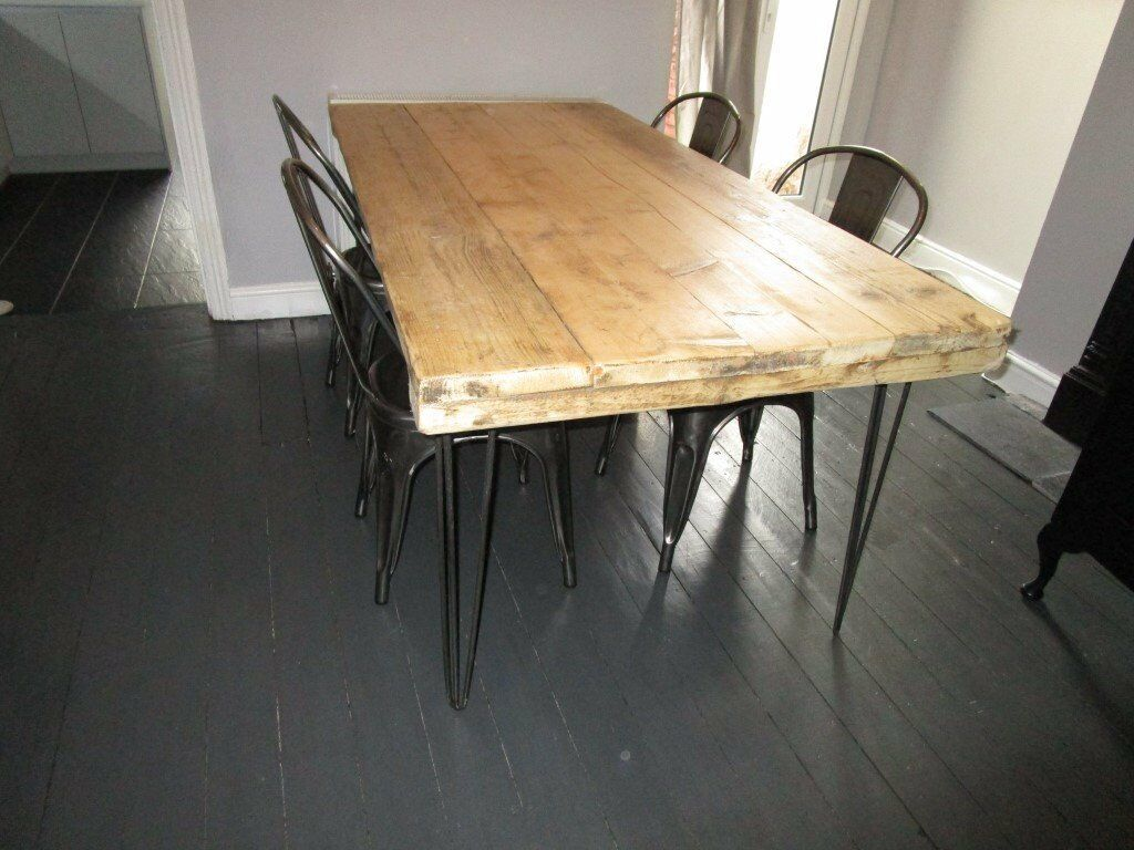 industrial dining furniture. Industrial Dining Table, With Reclaimed Wood, Vintage, Shabby Chic,reclaimed,metal Furniture