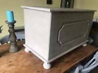 Refurbished Solid Pine Blanket Box/Storage Chest