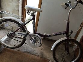 Vintage universal bicycle. Used once or twice still in Showroom condition