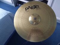 "PAISTE 20"" RIDE CYMBAL AND MAPEX STAND"