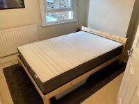 IKEA NEIDEN bed with HÖVÅG mattress & LURÖY slats