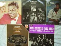 10 Jazz Lps: Basie, Nat Cole Trio, Teagarden, King Oliver
