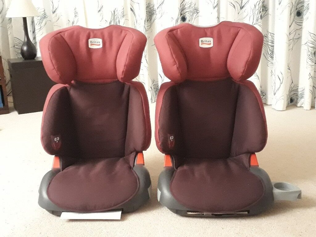 High back Britax booster car seats for sale.