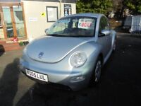VOLKSWAGEN BEETLE 1596cc 3 DOOR HATCH 2005-05, loads of service history