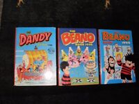 Vintage Beano/Dandy/TV Favourites/Bash Street Kids Annuals