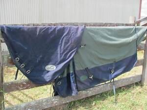 EUROHUNTER RAINSHEET HORSE RUG AND MATCHING LIGHT NECK RUG Luskintyre Maitland Area Preview