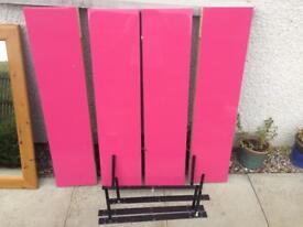 4 pink Floating Shelved with fittings