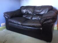 FREE 2 seater black leather sofa