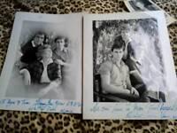 Coronation street autographs ,hand written by Liz dawn