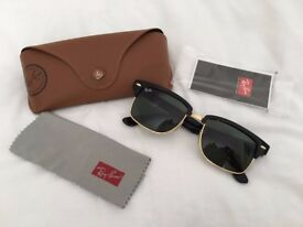 GENUINE USED Ray Ban 4190 clubmaster sunglasses black/gold