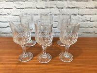 6 Elegant wine glasses