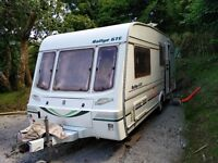 4 berth Compass Rallye with large awning and solar panel included.
