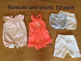0-3 month girls summer clothes