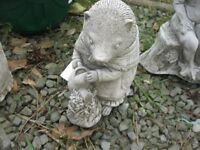 ORNATE STONE GARDEN ORNAMENT 'MRS GARDENER MOLE'. IN GOOD ORDER. VIEWING / DELIVERY AVAILABLE