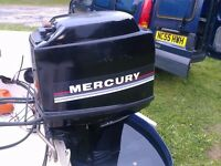 MERCURY 40 HP 4 CYLINDER TWO STROKE LONG SHAFT OUTBOARD BOAT ENGINE GOOD CLEAN HONEST ENGINE