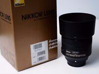 Nikon AF-S f1.8G ED Lens, like new