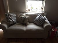 Ikea EKTORP two-seat sofa (dark beige)